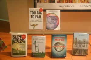 Climb the Green Ladder in Waterstones